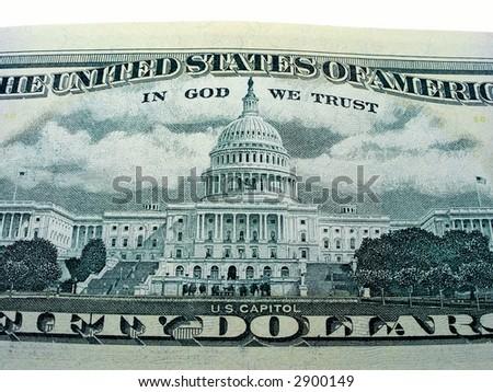 American dollars close-up. - stock photo