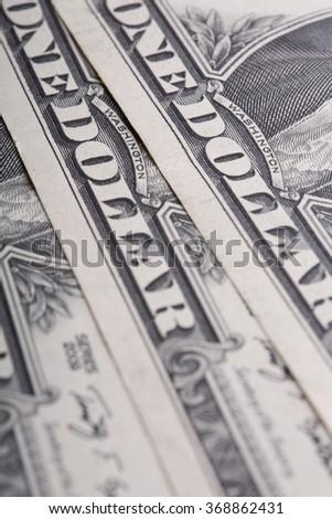 American dollars closeup - stock photo