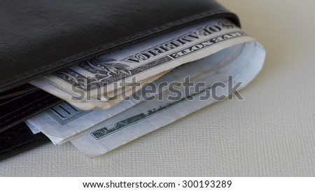 American Dollars in a Wallet