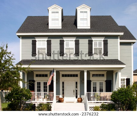 American Dream Home - stock photo