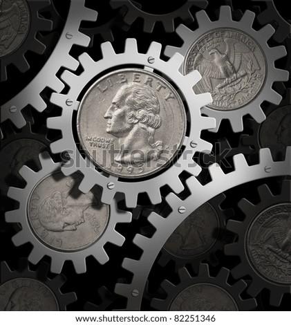 american economy - stock photo