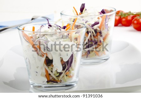 american farmer salad with dressing