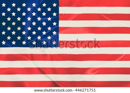 American flag. - stock photo