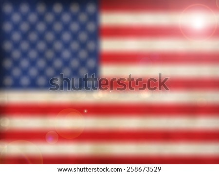 American flag,abstract blur background for web design, colorful , blurred, wallpaper
