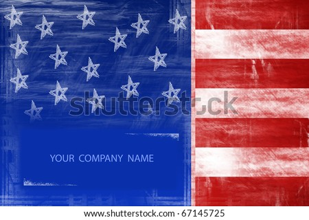 american flag abstract design - stock photo