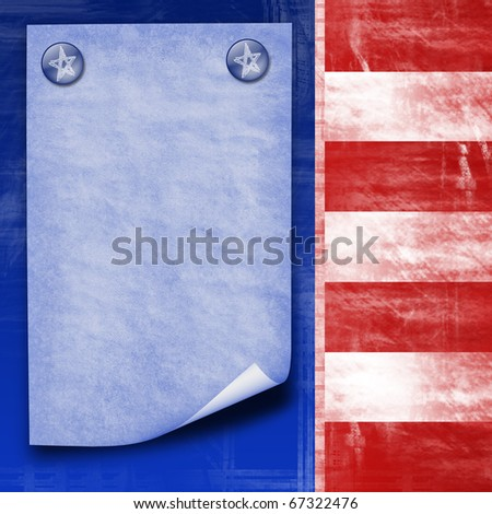 american flag abstract design with paper sheet for company information - stock photo