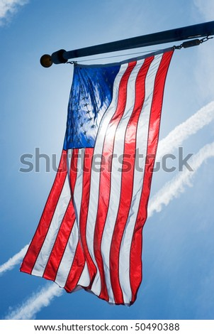 American Flag as Symbol of the American Nation - stock photo