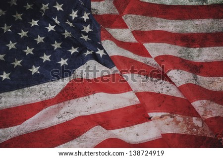 American flag background. - stock photo