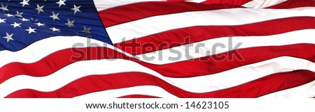 american flag background wide aspect ratio - stock photo