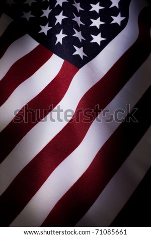 American Flag close up for background - stock photo