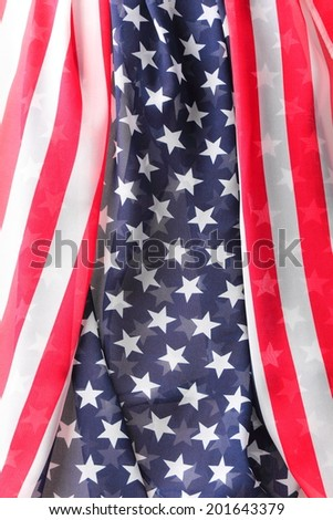 American flag close up view as background - stock photo
