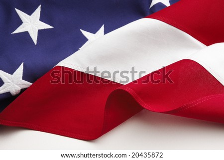 American Flag closeup - stock photo