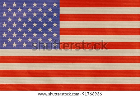 american flag drawn on the paperboard