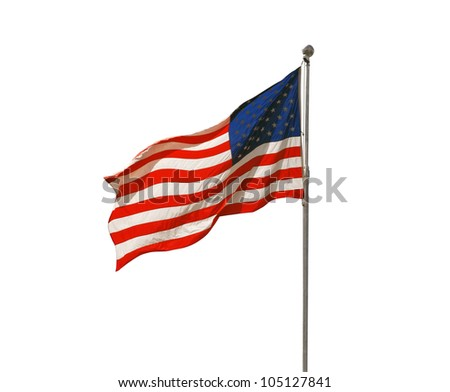 American flag flapping - stock photo