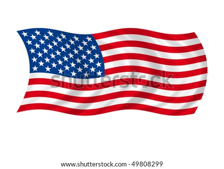 american flag flaps on winds