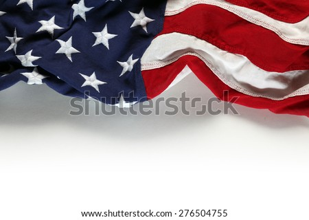 American flag for Memorial Day or 4th of July - stock photo