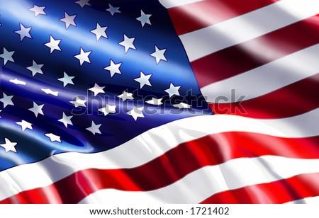 American Flag Graphic - stock photo