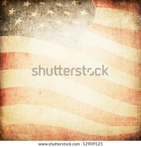 American flag grunge background. - stock photo