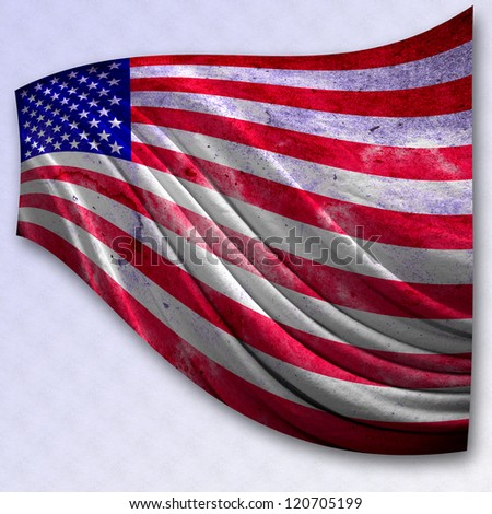 american flag grunge styled,USA flag. - stock photo