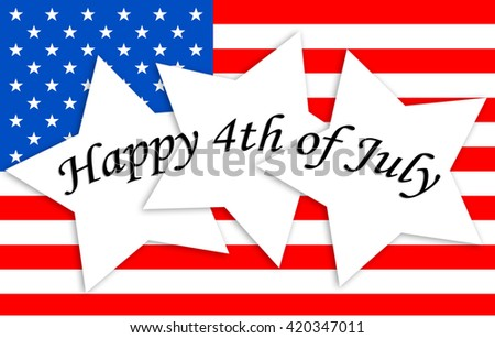 American Flag - Happy 4th of July - stock photo