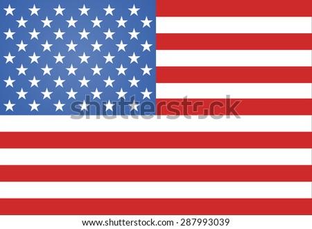 American Flag illustration - stock photo