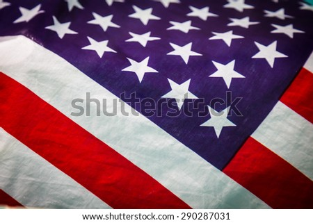 American flag in water - stock photo