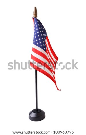 american flag isolated - stock photo