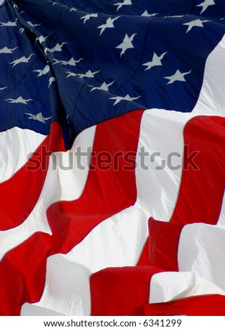 American Flag, old glory, fourth of July, Stars and Stripes - stock photo
