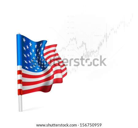 American Flag on background stock illustrations.  - stock photo