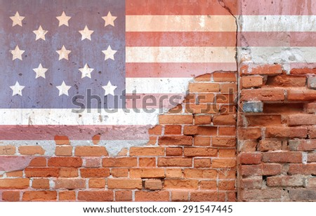 American flag on texture for Independence Day