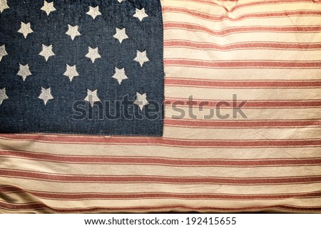 American flag pillow - stock photo