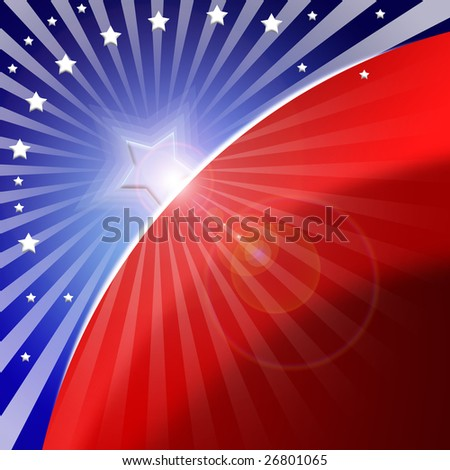 american flag stylized as abstract attractive background - stock photo