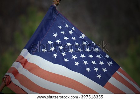 American Flag - the Stars - stock photo