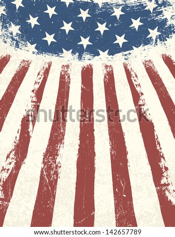 American flag themed background. Raster version, vector file available in portfolio. - stock photo