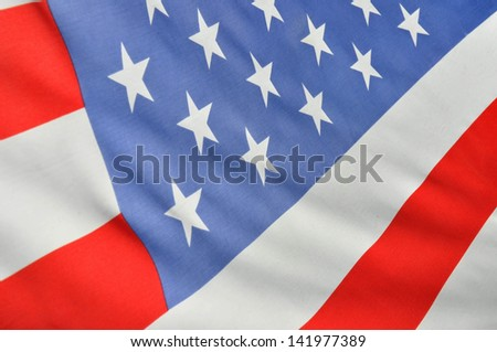 American flag useful as a background pattern - stock photo
