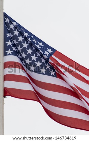 American flag with great colors - stock photo