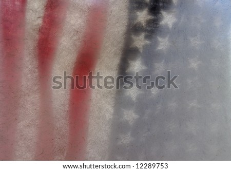 American flag with textured paper suitable for background use - stock photo