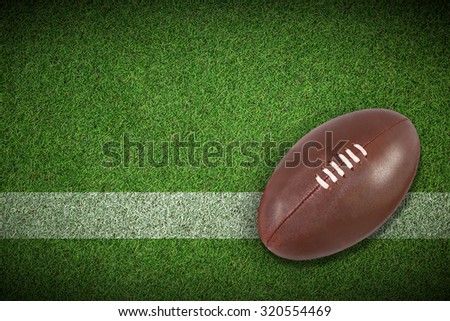 american football against pitch with line