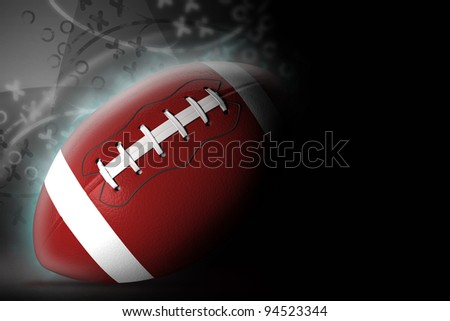 American football background, 3d illustration