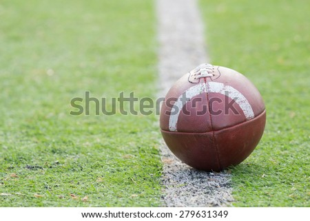 American football ball. - stock photo