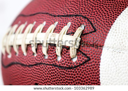 American football ball close up - stock photo