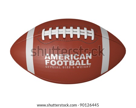 American football ball isolated on a white background. - stock photo
