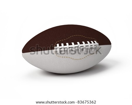American football ball isolated on white background - stock photo