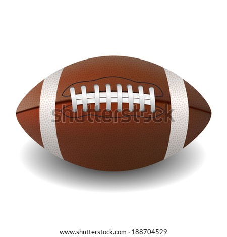 American Football ball isolated on white background  illustration
