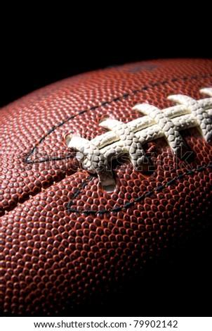 American football, close-up - stock photo
