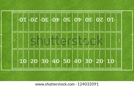 American football field - stock photo