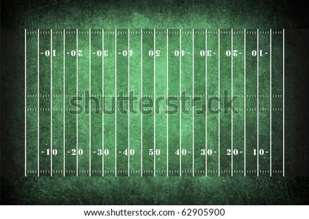 american football field pattern on the dark green grunge - stock photo