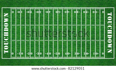 American football field with grass texture.  background template for design work - stock photo