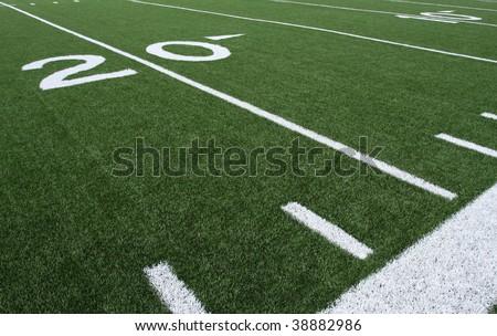 American Football Field Yard Lines - stock photo
