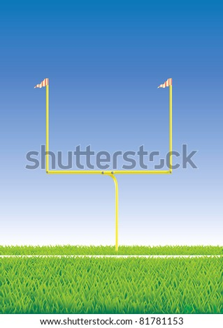 American football goal. - stock photo